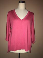 cullen Peach Pink Silk Cotton Viscose Dolman Sleeve Vneck Sweater Sz.m, L