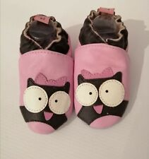 soft leather baby shoes, nursery shoe, suede sole pram shoes 6-12 MTHS