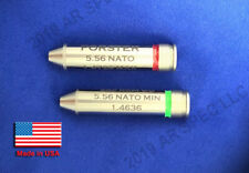 Forster Headspace Gauge set 5.56 Nato Min and 5.56 Nato Max Color Coded