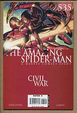Amazing Spider-Man #535 - Civil War Crossover! - 2006 (Grade 9.2) Wh