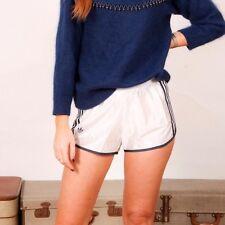 80 S VINTAGE SHINY Bianco & Blu Adidas Originals Hotpant Pantaloncini