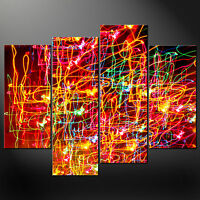 DANCING LIGHTS ABSTRACT CANVAS PRINT PICTURE WALL ART VARIETY OF SIZES SET OF 4