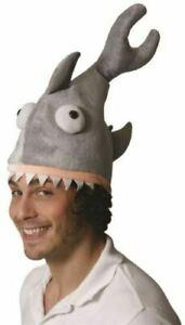 Grey Shark Bite Jaws Hat Australia Day Animal  Fancy Dress Novelty Costume