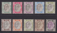 Transvaal. 1902. SG 244-253, 1/2d to 2/6. Mounted mint.