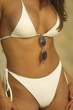 Washable Leather Thong Bottom + Triangle Top Bikini