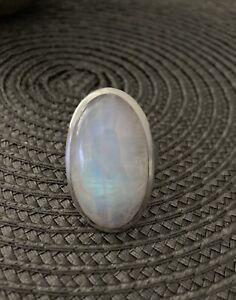 Mondstein Ring 925 Sterling Silber