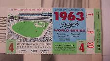 1963 World Series Ticket & Program Game 4 Mantle Homers Dodgers Sandy Koufax Win
