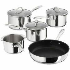 Stellar 7000 5 Piece Draining Saucepan Set S7C1D, Induction Ready