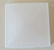 """Progressive RV Trailer Dome Interior Square Prismatic Light Plastic Lens 5"""" x5"""""""