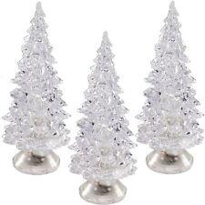 3x LED Weihnachts-Dekolicht Weihnachtsbaum Farbwechsel Batteriebetrieb 5 x 10 cm