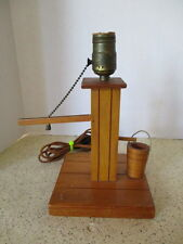 VINTAGE, WOODEN WATER PUMP LAMP BASE, HAND CRAFTED, WORKING, VERY UNIQUE