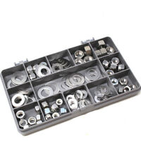 137 ASSORTED PIECE UNF FINE THREAD STAINLESS IMP. NYLOC FULL NUTS & WASHERS KIT