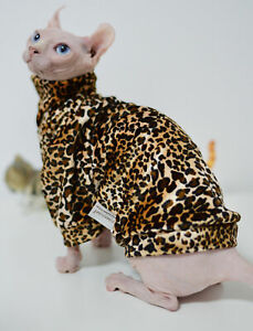 Sphynx Clothes Spring Autumn Naked Cat Apparel kitten Jumper Hairless Cat Outfit