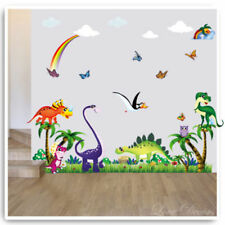Dinosaur Wall Stickers Decals Animal Owl Jungle T-Rex Nursery Baby Kids Room Art