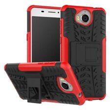 Hybrid Case 2teilig Outdoor Rot Tasche Hülle für Huawei Y6 2017 Etui Cover Neu