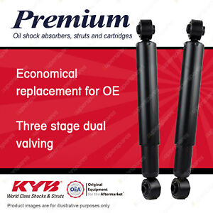 2x Rear KYB Premium Shock Absorbers for Daihatsu Mira L200S L201S Hatchback