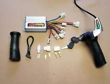48 volt 1000 watt speed controller and TriMax throttle with key brushed motors