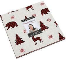 "Holiday Lodge Moda Layer Cake 42 100% Cotton 10"" Precut Quilt Squares"