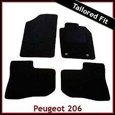 PEUGEOT 206 1998 - 2007 2008 2009 2010 2-Clip MONTATO SU MISURA MOQUETTE TAPPETINI AUTO