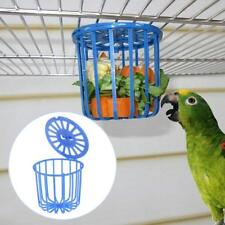 Bird Cage Parrot Fruit Feeder Vegetables Suspension Basket Container Pet Toys--