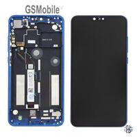 Display Pantalla Ecra LCD Tactil Touch Frame Marco Azul Xiaomi Mi8 lite