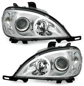 UK HEAD LAMP HEADLIGHTS SET for Mercedes ML W163 1998-2001 M-Class left right