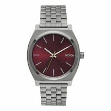 OROLOGIO Nixon Time Teller A0452073 watch acciaio grigio Bordeaux gunmetal Uomo