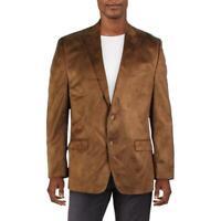 Lauren Ralph Lauren Mens Faux Suede Sportcoat Two-Button Blazer Jacket BHFO 9723