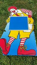 Vintage Ronald McDonald store display  Holder Life Size Over 6ft Tall happy meal