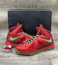 Nike Lebron X James 541100-600 10 Christmas Pack Red Tourmaline Green Xmas  14