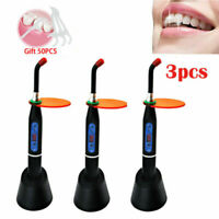 3pcs Wireless Dental Polymerisationslampe/Dental LED Curing light Lamp Black