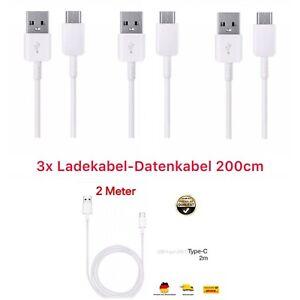 3X Ladekabel 2m USB C zu Typ C Datenkabel SchnellKabel für Samsung Xiaomi Huawei