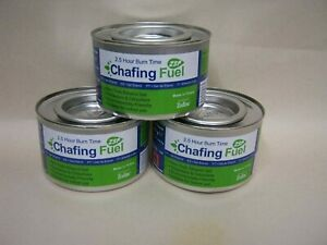 3 X Ethanol Chafing Gel Fuel Catering 2.5 Hr Burning BBQ Buffet Camping Parties