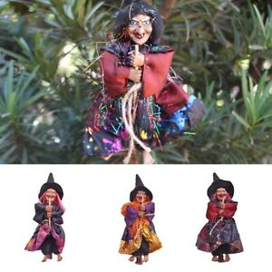 Hanging Horror Witch Figurine Halloween Decoration Pendant Ornaments for Party