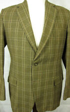 VINTAGE Burton Tailored Brown and Gold Tweed Wool Sport Coat 40R England