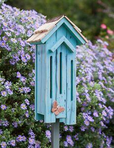 "BUTTERFLY HOUSES - ""KESWICK GARDENS"" BUTTERFLY HOUSE - SKY BLUE - GARDEN DECOR"