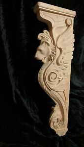 "17"" Lion Corbel, Wooden Corbel, Rustic Corbel, Fireplace Surround, lion art"
