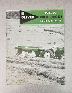 1960 Oliver Balers Model 62-T, 62-W Dealer Sales Brochure