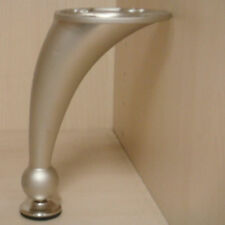 Leg curved nickel finish 150mm with leveller