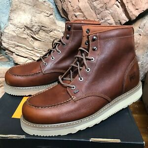 """Timberland PRO Barstow Men's 13 Wide Wedge Soft Toe 6"""" Moc Toe Work Boot 89647"""