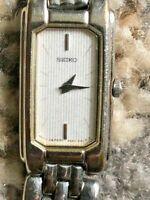Retro Vintage Elegant Seiko Rectangular Ladies Watch 2E20-7420