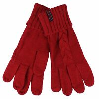 SUPERDRY GRACIE WOMENS ACBLE KNIT FURNACE RED GLOVES
