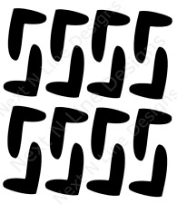 Boomerang Pattern Stencil, Boomerang, Wall Stencil ,Mylar Stencil, Reusable