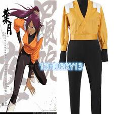 Nuevo Bleach Yoruichi Shihouin Naranja Cosplay Disfraz #