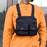Men Chest Bag Outdoor Hip-Hop Tactical Streetwear Vest Chest Rig Bags Pack