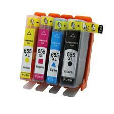 4 Cartouche d'encre pour HP Deskjet Ink Advantage 3525 4615 4625 5525 6520 6525 655 BK