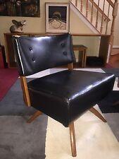 Mid Century Lounge Club Chair Danish Style Side Swivel Wood Splayed Spider Legs