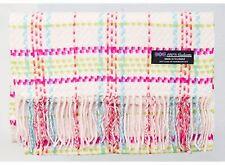 100% Cashmere Scarf Pink Green Tartan Flannel Check Plaid Scottish Wool R816