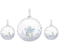 Swarovski Crystal 2015 ANNUAL EDITION CHRISTMAS BALL ORNAMENT SET 5136414