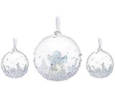Swarovski Crystal 2015 ANNUAL EDITION CHRISTMAS BALL ORNAMENT SET 5136414